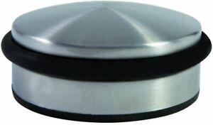 Alba Doorstop N Weighted Doorstop Black, Round, Steel and Rubber Construction