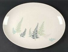 Large Dell Fern Franciscan Oval Platter - Measures 16.5 Long x 12.5 Wide