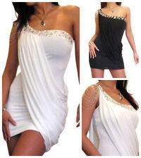 Vestiti da donna senza maniche a lunghezza extracorto, micro mini a monospalla