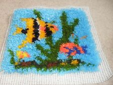 Completed latch hook cushion cover (Fish)