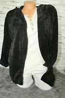 Italy Cardigan Strickjacke Jacke Oversized schwarz Gr. 36 38 40 42 blogger weich