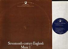 SEVENTEENTH CENTURY ENGLAND music 1 OU 69 uk open university 1981 LP PS EX/VG+