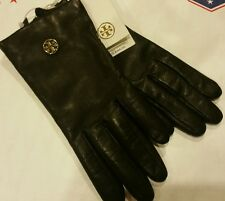 Tory Burch Black Leather Tech Gloves Size XS NWT MRP $165 Black/001 Style 35088