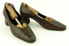 RODO * ITALY * CLASSIC PUMP IN BROWN PYTHON * 40 * XCLNT