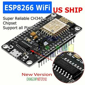 NodeMcu Lua ESP8266 CH340G ESP-12E Wireless WIFI Internet Development Board US