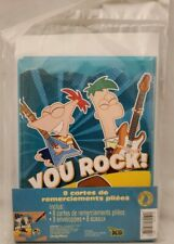 Phineas and Ferb Folded Thank You Cards and Envelopes 8 Per Package NEW