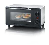 Severin TO 2052 Mini-Backofen Tischbackofen 9 L 800 W 60 min Timer Ofen