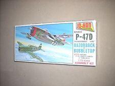 "JO-HAN'S REPUBLIC P-47D THUNDERBOLT ""JUG"" RAZORBACK or BUBBLETOP, COMPLETE, OLD!"