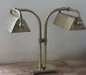 Lampe Art Deco  Salle de Lecture Double Feux
