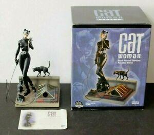 CAT WOMAN STATUE JIM LEE HAND PAINTED COLD CAST PORCELAIN DC DIRECT LE 634/3500