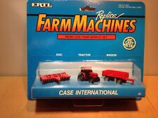 ERTL CASE INTERNATIONAL FARM MACHINES MICRO SIZE FARM VEHICLE SET