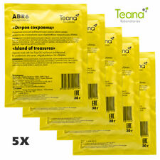 Teana alginate Peel Off Face Mask, Reduces Acne, Oiliness & Visible Pores, 5x30g