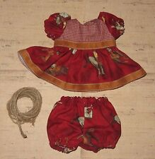 "Handmade Doll Clothes for 12"" - 14"" Baby Dolls - ""Ride 'Em Cowgirl"" Dress Set"
