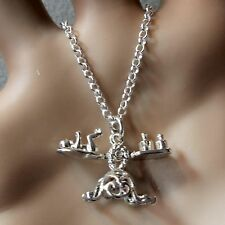 new sterling silver baby on scales pendant & chain