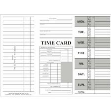 1000 Count, Form 225, Tri-Fold Job/Time Cards for Right-Side Printing Time Clock