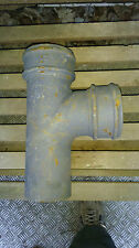 """4"""" Cast Iron Gutter 90 degree, right angle Y Branch, Drain Pipe New Antique type"""