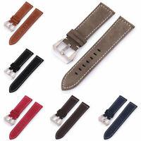 Men Women Watch Band Nubuck Leather Strap Buckle Wristwatch Acces 18mm-24mm