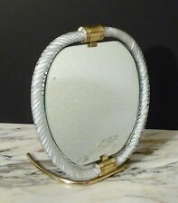 Murano Venini Twisted Art Glass Brass/Bronze Table Vanity Mirror 1940s' / 1950's