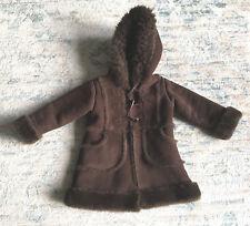 Baby Gap Toddler Girl Brown Faux Suede Faux Fur Hood Winter Coat 3T