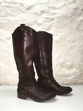 Bass Tall Riding Boots Adrina F16, Womens size 6M, Dark Brown, Pre-Owned