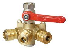 Druckluft-Verteiler Druckluftdose Wanddose Luftverteiler 3 Kupplungen Kugelhahn