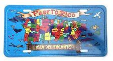 "Puerto Rico Island 6""x12"" Aluminum License Plate Tag ( Tablilla )"