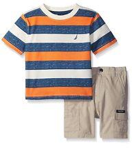 Nautica Baby Boys' 2 Piece Bold Stripe Tee Shirt Set