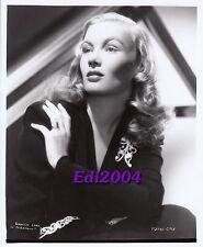 VERONICA LAKE Older Restrike Photo 1940s Bejeweled Elegant Glamour Portrait
