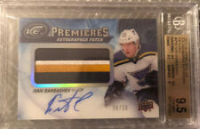 Ivan Barbashev 17-18 UD ICE PREMIERES ROOKIE PATCH AUTO RPA /10 BGS 9.5