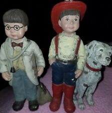 Sarahs Attic 2 -figs Doctor Whimpy & Fireman Whimpy Figurine, Numbered-Signed !