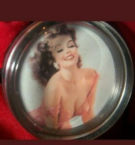 Just a little too hot STEERING WHEEL SPINNER KNOB Hot Rat Rod PINUP Girl