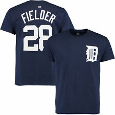 Majestic Boy's Junior Prince Fielder #28 Detroit Tigers T-Shirt (Medium, Navy)
