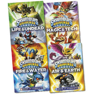 Skylanders Universe Books of Elements Collection 4 Book Set (Fire & Water, Air )