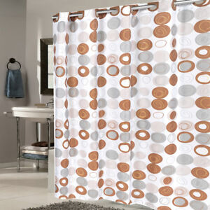 "EZ On Fabric Shower Curtain Madison With Built in Hooks 70""x75"""