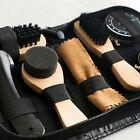Shoe Shine Care Kit Black & Transparent Polish Brush Set for Boots Shoes Care