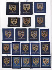 SCOUTS OF BRITISH / UNITED KINGDOM - UK SCOUT SHROPSHIRE COUNTY BADGE (20 VAR)