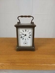 Pendule d'officier ancienne -  Pendulette de voyage - carriage clock Fonctionne