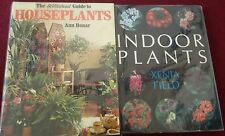 2 x books Houseplants indoor plants by Ann Bonar Xenia Field bundle set
