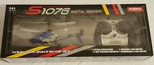 NEW Syma Gyroscopes System S107G Metal Series 3 Channel RC Mini Helicopter Blue