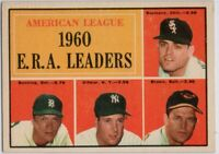 1961 Topps #46 ERA Leaders EX-EX Wrinkle Jim Bunning Ditmar FREE SHIPPING