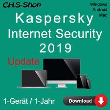 Kaspersky Internet Security 2019 *1-Gerät / 1-Jahr* DE Update / KEY