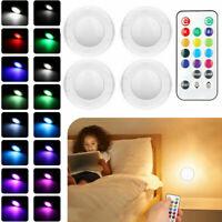 4er-RGB Schrankleuchten Nachtlicht LED Unterbaubeleuchtung  mit Fernbedienung