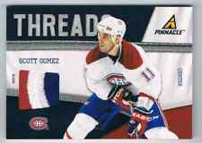 2011-12 PINNACLE THREADS SCOTT GOMEZ PATCH 3 COLORS 11/25 MONTREAL CANADIENS #73