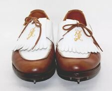 Ralph Lauren Bench Made Brown White Leather Signature Golf Shoes 9.5B England