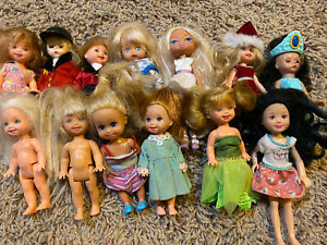 LOT Mattel Barbie Kelly Chelsea Santa Boy Dolls Some Vintage 1990s