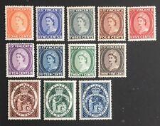 St. Vincent. Queen Elizabeth II Set of Stamps.  SG189/200. 1955.  MLH  #AE104