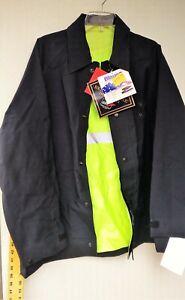 Blauer GTX 9691 Featherweight Rain Jacket Medium Regular Police Blue/ Hi Viz