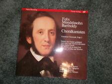 WOLFRAM WHNERT Mendelssohn Bartholdy Choralkantaten CARUS VERLAG LP 68101