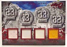 Michael Jordan/Wilt Chamberlain/Bird/Magic Leaf Q Mt. Rushmore GU Jersey #'d 3/3