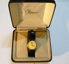 NFL VINTAGE Olympic Swiss Quartz Watch Timeplace w/ Paperwork in Original Case